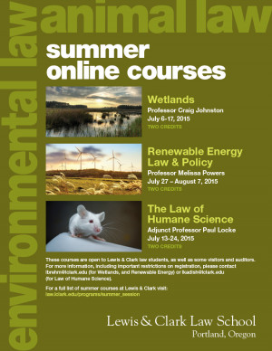 LC is offering two online environmental law courses this summer