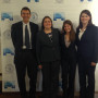 2017 National Environmental Moot Court team (left to right): Prof. and Coach Johnston, Kathryn Ro...