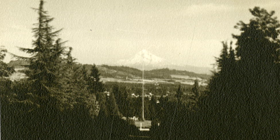 1944: The view of Mt Hood.